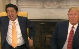 Negociar con japoneses - Donald Trump y primer ministro japonés
