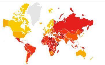 países más y menos corruptos del mundo en 2018