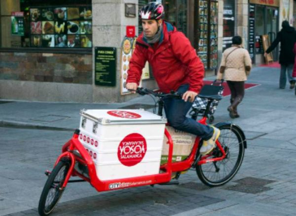 empresa mensajería en bicicleta