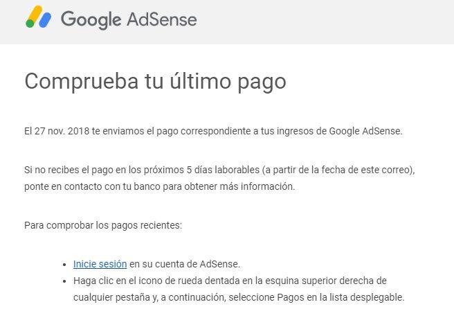 retraso en el pago de google adsense y youtube