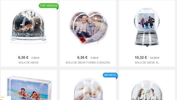 bolas de nieve personalizadas como regalos originales